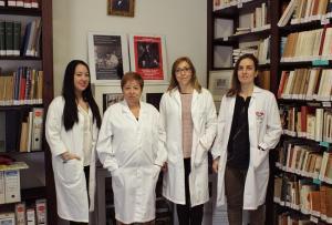 Científicas de la UGR: de izda. a dcha., Luz Iribarne, Enriqueta Barranco, Inma Jiménez y Olga Ocón