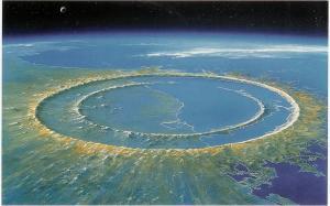 Imagen del cráter, de 180 kilómetros de diámetro, en el Yucatán (México).