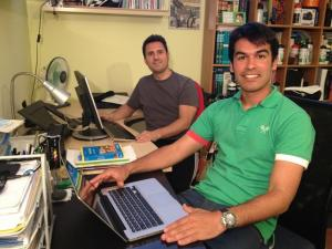 Mikel Zabala (al fondo) y Jaime Morente.