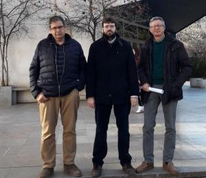 De izquierda a derecha, Enrique Ruiz Arriola, Ignacio Ruiz Simó y José Enrique Amaro Soriano.