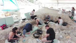 Trabajos durante la última temporada de excavaciiones en Orce.