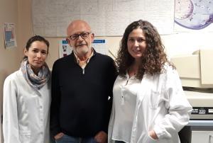 De izqda. a dcha., Teresa Cruz, Antonio Osuna y Mercedes Gómez.