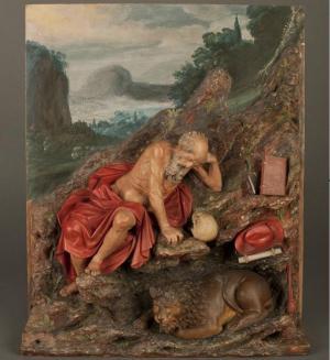 San Jerónimo penitente. Su autoría todavía se atribuye a Alonso Cano, aunque corresponde a los hermanos García.
