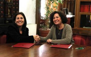 María Jesús Almazor y Pilar Aranda.