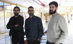 De izquierda a derecha, Ginés Navarro, Hugo Carretero y Jorge Torres.