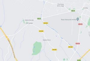 Mapa con los tres municipios afectados.