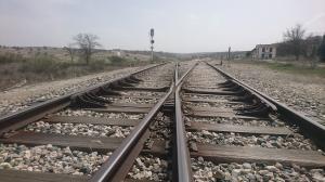 Detalles de las vías del tren en Alamedilla-Guadahortuna.