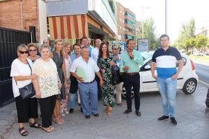 Concejales del PP en su visita al Distrito Beiro.