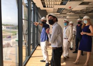 Visita municipal a las obras de la nueva sede de Euroinnova.