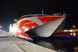 El ferry rápido que ha posicionado la naviera Armas en Motril.