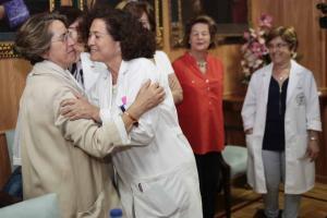 Pilar Aranda, en la Facultad de Farmacia.