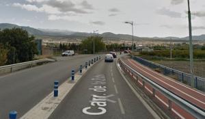 Fin del desdoble de la carretera, donde también termina el carril bici.