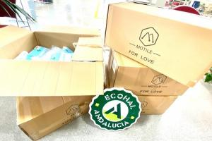 Material donado por Ecohal por las comercializadoras hortícolas.