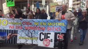 Imagen de la manifestación este sábado en Motril
