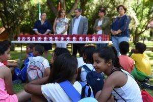 Imagen de archivo de la recepción a un grupo de niños saharauis.