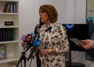 Susana Díaz, en la Mancomunidad de Municipios de la Costa, el miércoles pasado.