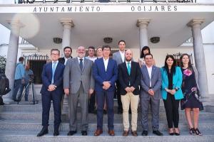 Juan Marín, en su visita este miércoles a Ogíjares.