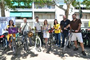 Imagen de la jornada de movilidad de Unidos Podemos.