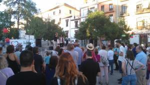 Un momento del acto cultural organizado por el movimiento ciudadano por la confluencia.