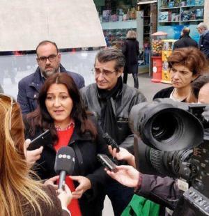 Alejandra Durán, en una comparecencia ante los medios.