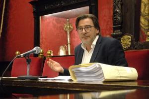 Baldomero Oliver, este viernes en rueda de prensa.