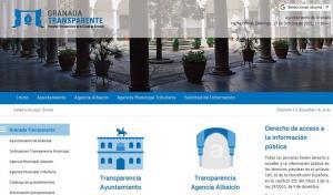 Página web de transparencia del Ayuntamiento de Granada.