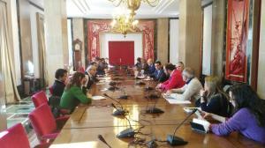Reunión celebrada este jueves con la Comisión de Fomento.