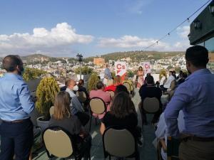 Bosquet, durante su encuentro con militantes este jueves en Granada.