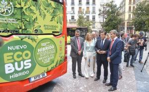 Uno de los primeros autobuses híbridos adquiridos, hace un año.