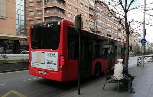 La flota de autobuses, objeto de los expedientes.