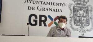 Antonio Cambril, portavoz de Unidas Podemos, en rueda de prensa.