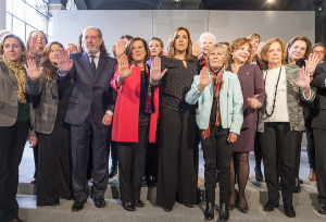 Susana Díaz en la presentación de la campaña de la Junta contra la violencia machista.