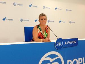 Carmen Lidia Reyes, en rueda de prensa.