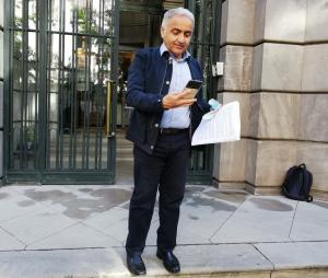 Antonio Jesús Castillo, este martes a las puertas de la Fiscalía.