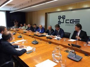 Un momento de la reunión entre los empresarios y el secretario de Estado.