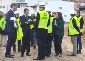 Cuerva y Aribayos en la última visita del ministro de Fomento a las obras del AVE.
