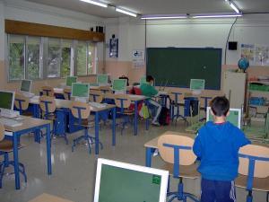 Una de las aulas del Colegio Público Olivarillo de Padul.
