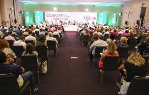 Imagen del comité director del PSOE andaluz celebrado este lunes.