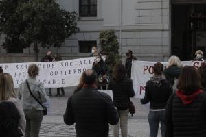 Concentración, este viernes a las puertas del Ayuntamiento.