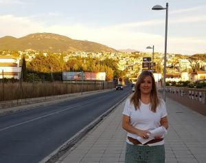 Cristina Marín, en la carretera.