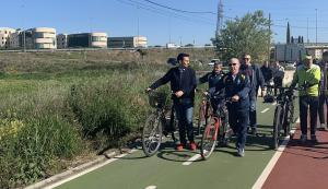 Carril bici entre Granada y Ogíjares.