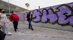 Cuenca, durante la visita este lunes a Doctores.