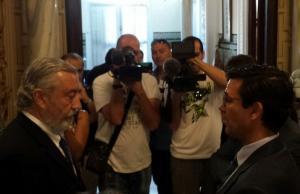 El alcalde con el secretario de Estado de Infraestructuras.