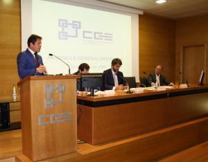 Gerardo Cuerva, durante su intervención ante la asamblea de la CGE.