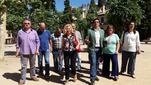 El candidato del PSOE, en el Campo del Príncipe