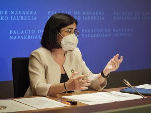Carolina Darias, este miércoles en rueda de prensa tras el Consejo Interterritorial.