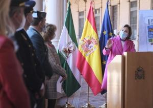Sandra García en un acto esta semana.