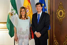 Susana Díaz y Juan Marín.