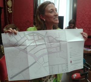 Isabel Nieto, muestra el proyecto Eje Gran Vía.