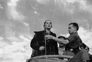 Dolores Ibarruri en el Frente del Centro. 1937.